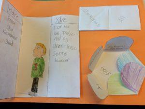 Et eksempel på en foldebog lavet i 3. klasse